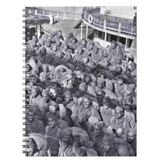 WWI Black Soldiers on Transport Ship Notebooks
