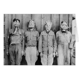WWI Era Gas Masks, 1917 Greeting Card