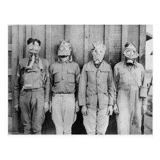 WWI Era Gas Masks, 1917 Postcard