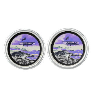 WWI Planes Practicing Attacks Cufflinks