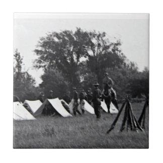 WWI Soldiers Canvas Print Ceramic Tiles