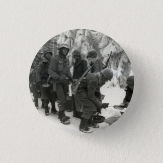 WWII American Soldiers in Belgium 1 Inch Round Button