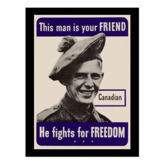 WWII Canadian Postcard