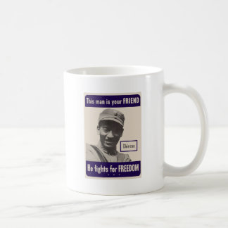 WWII Chinese Classic White Coffee Mug