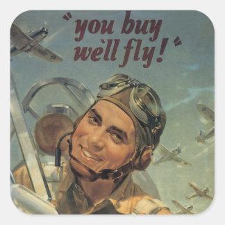 WWII Era Square Sticker