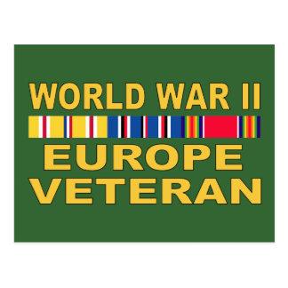 WWII Europe Veteran Postcard