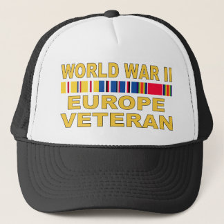 WWII Europe Veteran Trucker Hat