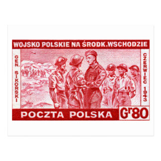 WWII General Sikorski Postcard