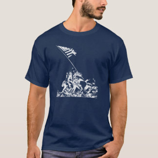 WWII Iwo Jima Flag Raising, white T-Shirt