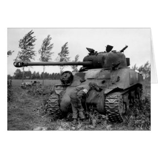WWII KIA British Firefly Tank, Holland Card