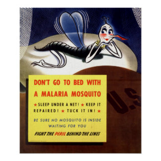 WWII Malaria Mosquito Poster
