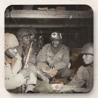 WWII Medics Waiting Drink Coaster