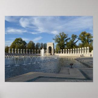 WWII Memorial Fountain. Atlantic Side Poster