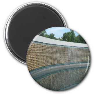 WWII Memorial Freedom Wall in Washington DC 2 Inch Round Magnet