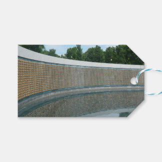 WWII Memorial Freedom Wall in Washington DC Gift Tags