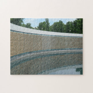 WWII Memorial Freedom Wall in Washington DC Jigsaw Puzzle