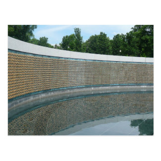 WWII Memorial Freedom Wall in Washington DC Postcard