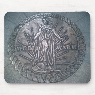 WWII Memorial Plaque Mouse Pad