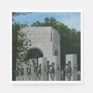 WWII Memorial Wreaths II in Washington DC Paper Napkins