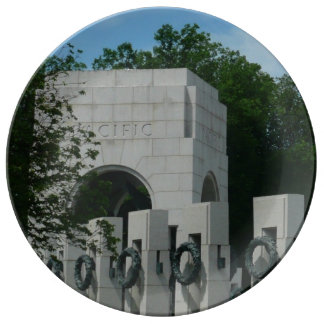 WWII Memorial Wreaths II in Washington DC Plate