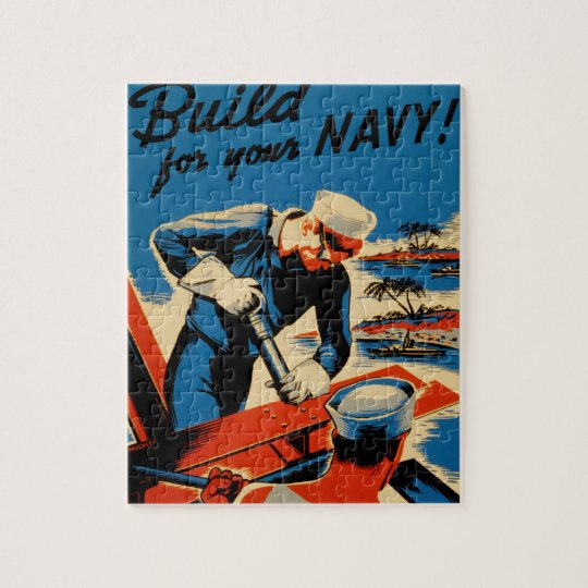 WWII Navy Poster Design Jigsaw Puzzle