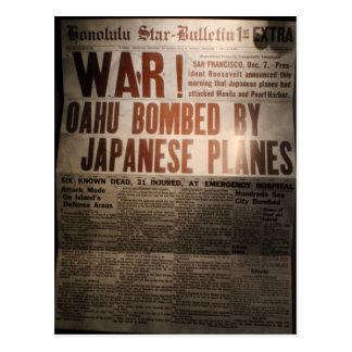 WWII Newspaper Postcard