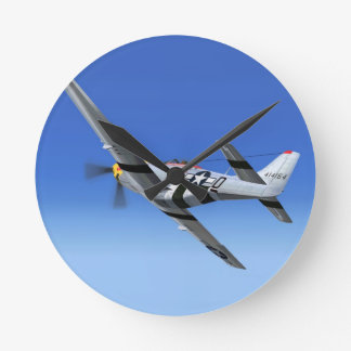 WWII P51 Mustang Fighter Plane Clocks