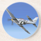 WWII P51 Mustang Fighter Plane Coaster