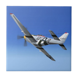 WWII P51 Mustang Fighter Plane Tile