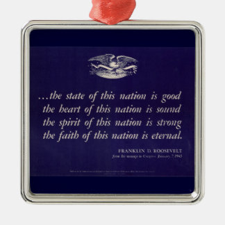 WWII Patriotic Poster Ornament