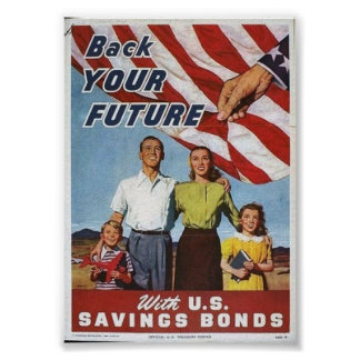 WWII Patriotic Poster / Saving Bonds