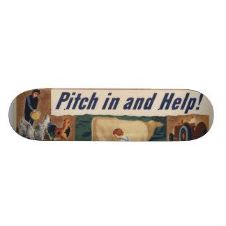WWII Patriotic Poster Skateboard