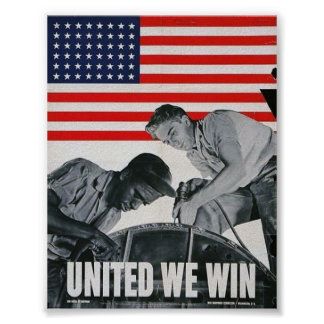WWII Patriotic Poster / War Effort