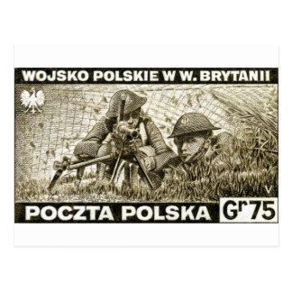 WWII Polish Army in England Postcard
