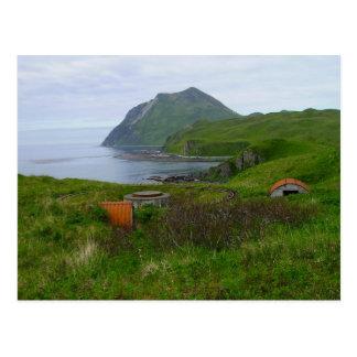WWII Relics at Summer's Bay, Unalaska Island Postcard