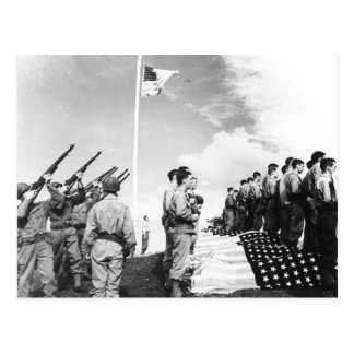 WWII Salute to Fallen Soldiers Postcard