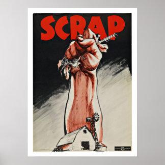 WWII Scrap Metal - Vintage Patriotism Poster