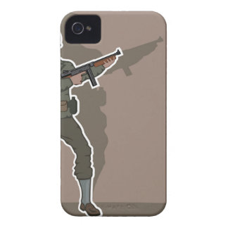 WWII soldier Case-Mate iPhone 4 Case