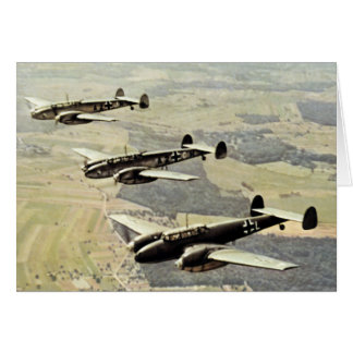 WWII Three Messerschmitt ME-110 Card