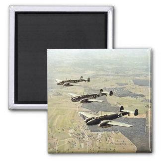 WWII Three Messerschmitt ME-110 Square Magnet