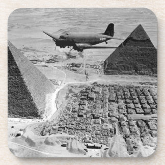 WWII Transport Planes Flying Over Pyramids Coaster