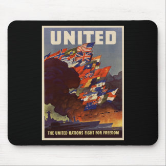 WWII United Nations Mouse Pad