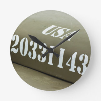 WWII US Army Jeep hood background Wallclock