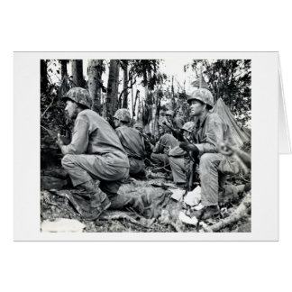 WWII US Marines on Peleliu Card