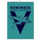 WWII White Remember Pearl Harbour Card
