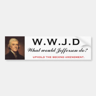 WWJD 1 BUMPER STICKER