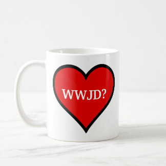 WWJD Heart Coffee Mug