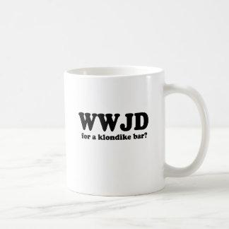WWJU FOR A KLONDIKE BAR COFFEE MUG