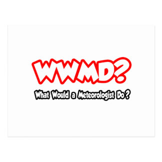 WWMD...What Would a Meteorologist Do? Postcard