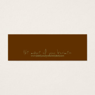 www{dot}yourbusiness{dot}com mini business card